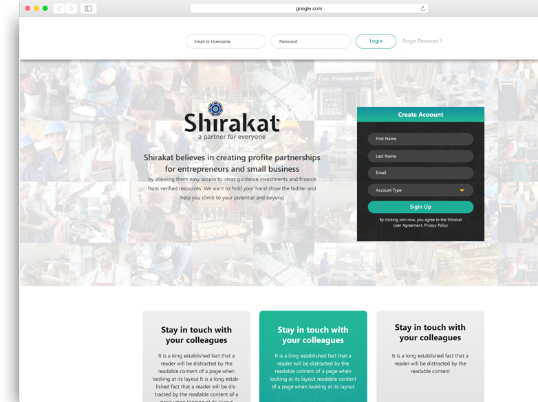 Shirakat Website
